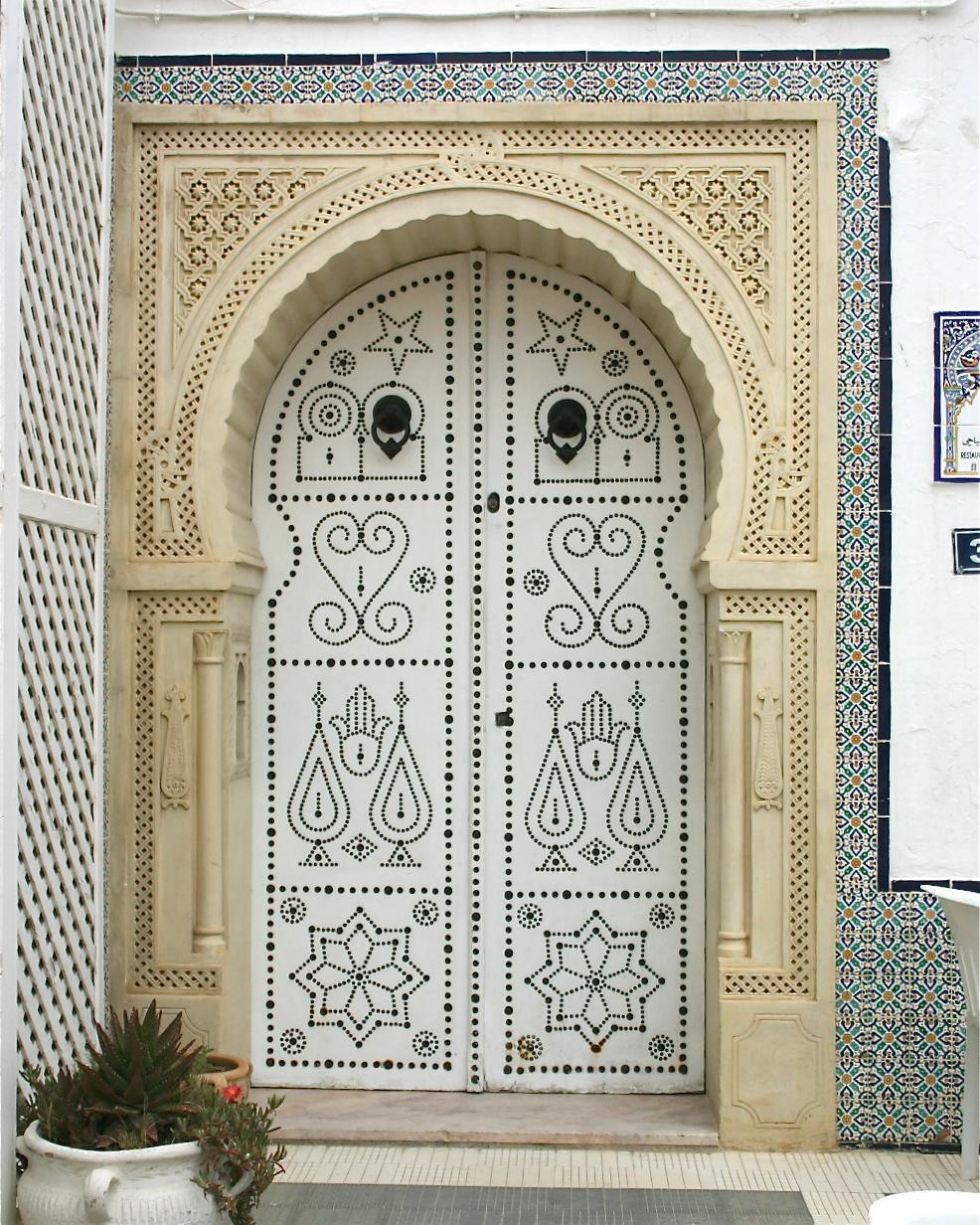 Porte tunisienne leklektik for Porte fer forge en tunisie