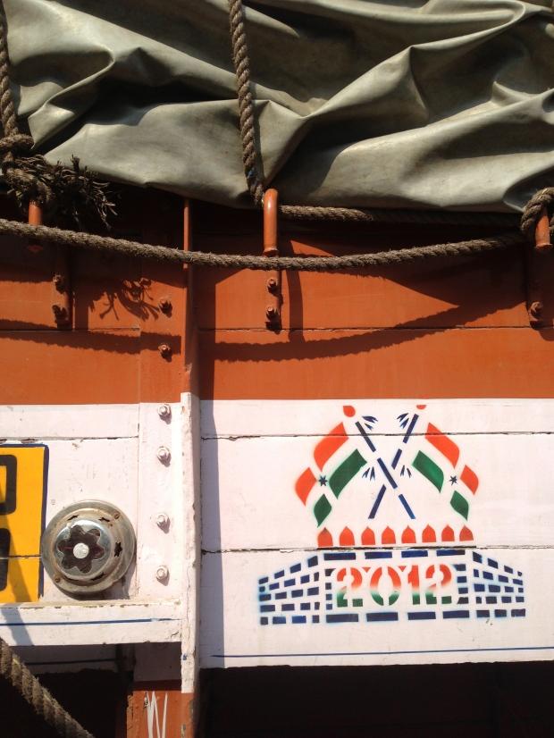 Orange, blanc et vert, les couleurs du drapeau indien.