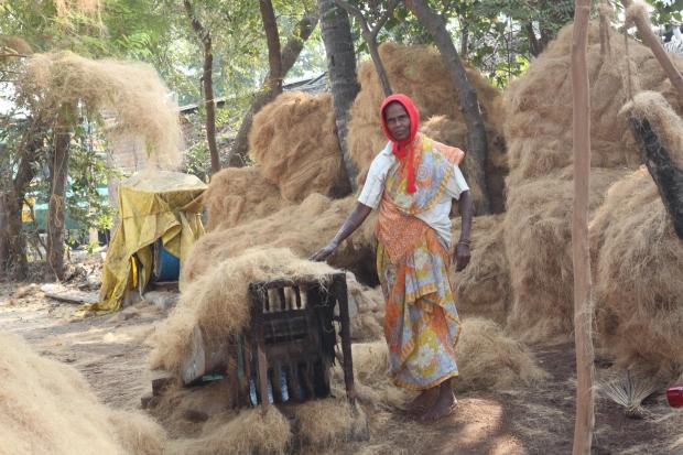 Travailler la fibre de coco