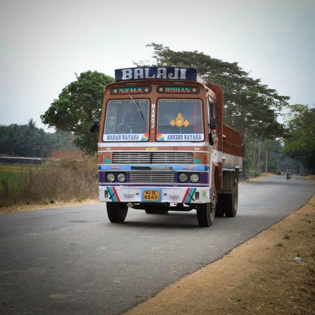 Un camion du Kerala