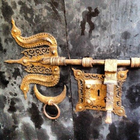 Détail de porte du théatre kathakali
