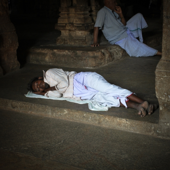 Temple sleeping