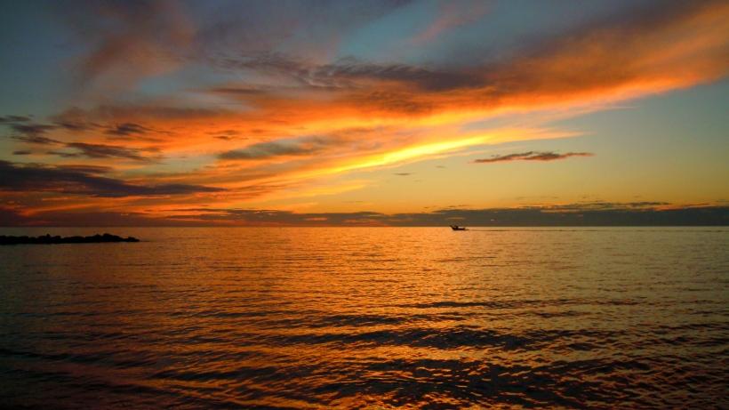Frontignan, lever du soleil du 7 octobre 2013