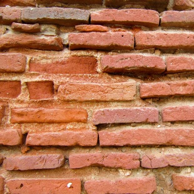 Briques d'argile rouge