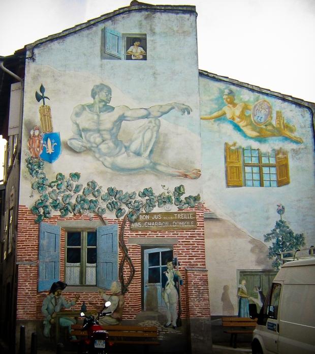 Mur peint du Castelviel.