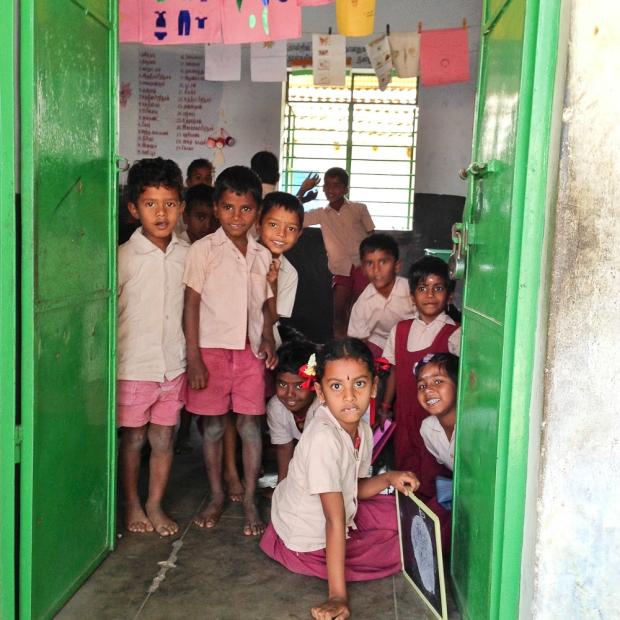 Les portes vertes de l'école