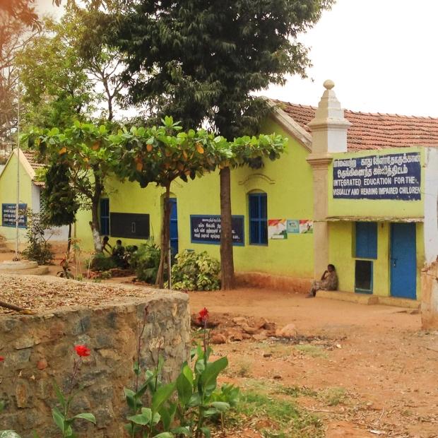 Une école spécialisée, rare en Inde.