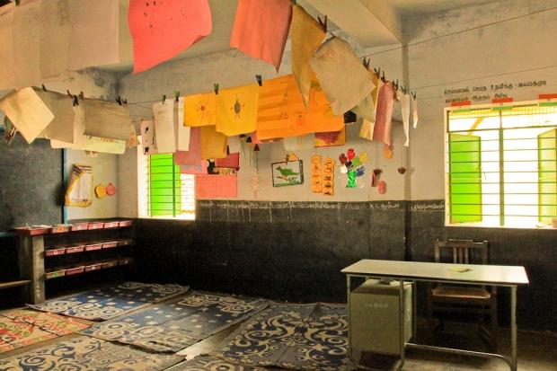 La salle de classe de l'école primaire.