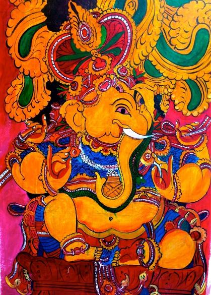 Peinture murale du plus populaire dieu indien.