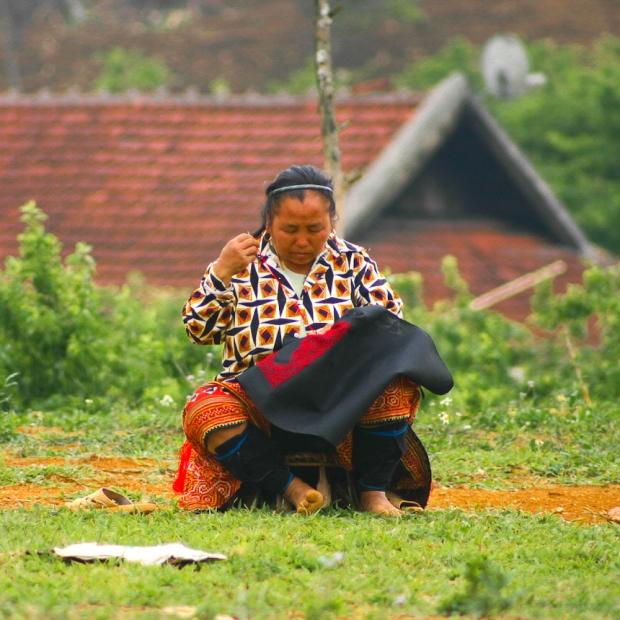 Broderie entre Mai Chau et Son La
