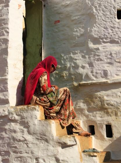 Brodeuse à Jaisalmer