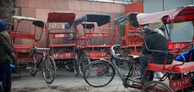 Rick shaw, vélo à 3 roues à Delhi IMG_9242-1