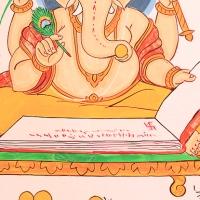 Ganesha sur les façades des maisons en Inde