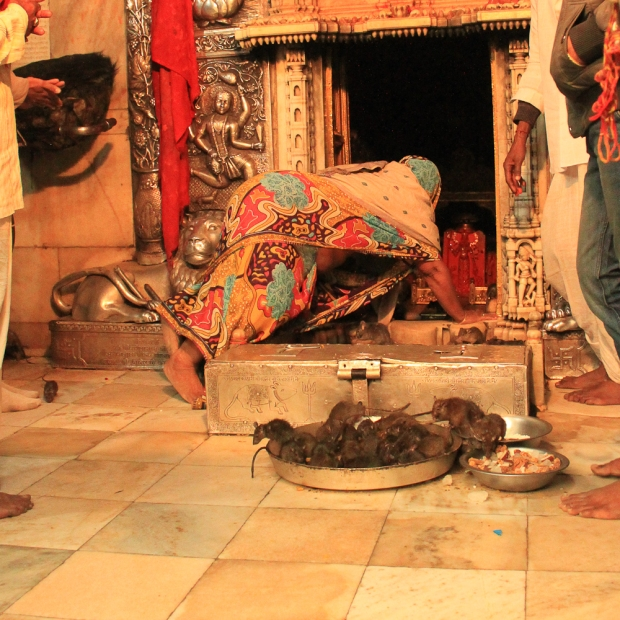 Sanctuaire avec la statue de la déesse