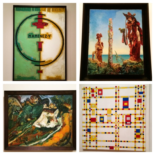 Picabia 1920, Ernst 1941, Soutine 1922, Mondrian 1942