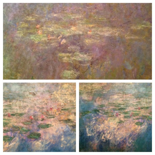 Reflet des nuages sur le bassin des nymphéas de Monet, 1920