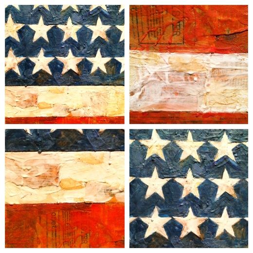 The flag de Jasper Johns 1954