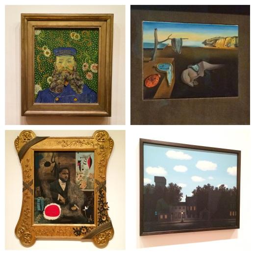 Van Gogh 1889, S.Dali, J.Miro 1950, Magritte