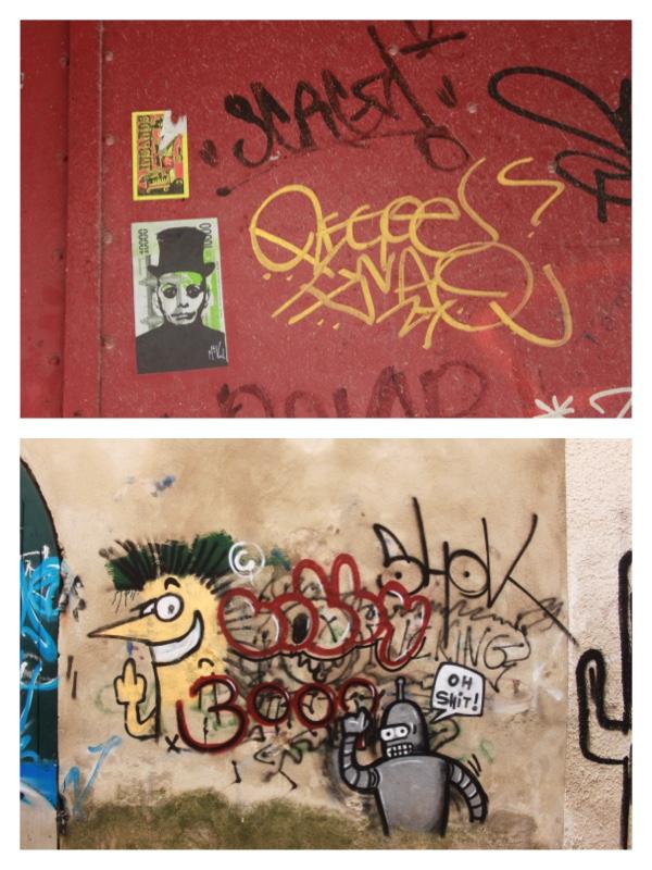 Graffiti à Sommières 02