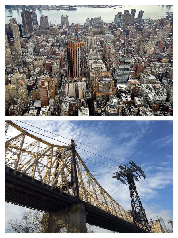 NYC d'en-haut et d'en-bas