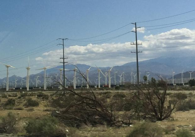 Desert des Mojaves , Eoliennes