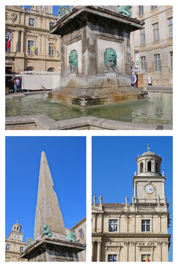 Place de la République avec son obélisque et sa fontaine