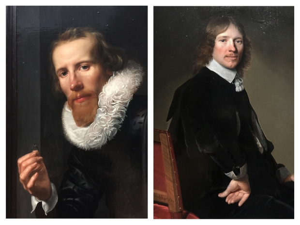 A gauche Werner van den Valckert 1617 . A droite,Johann Cornelisz Verspronck Portyrait d'Edouard Walls 1662
