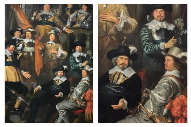 Govert Flinck La Compagnie du capitaine Albert Bas et le lieutenant Lucas Conijn . 1645