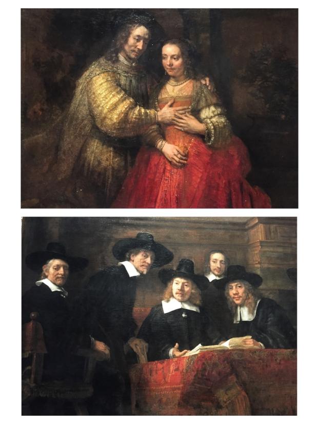 """Rembrandt """"The jewish bride"""" , Isaac et Rebecca 1669"""
