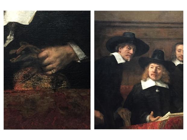 Le syndic de la guilde des drapiers 1662 (Détails)