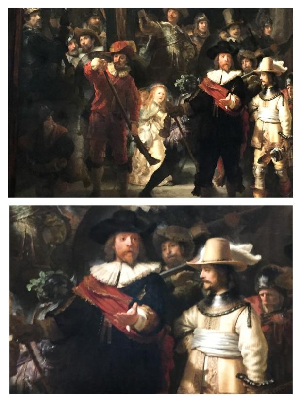 """Rembrandt """"la Ronde de nuit"""" 1642 (Détails)"""