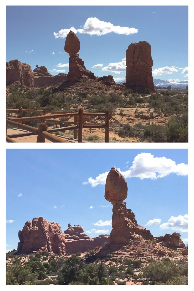 Balanced rock, un gros rocher en équilibre. Arches National Park 18.jpg