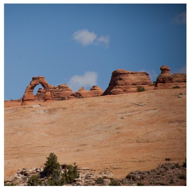 Symbole de l'Utah sur les plaques d'immatriculation.Arches National Park 19.jpg